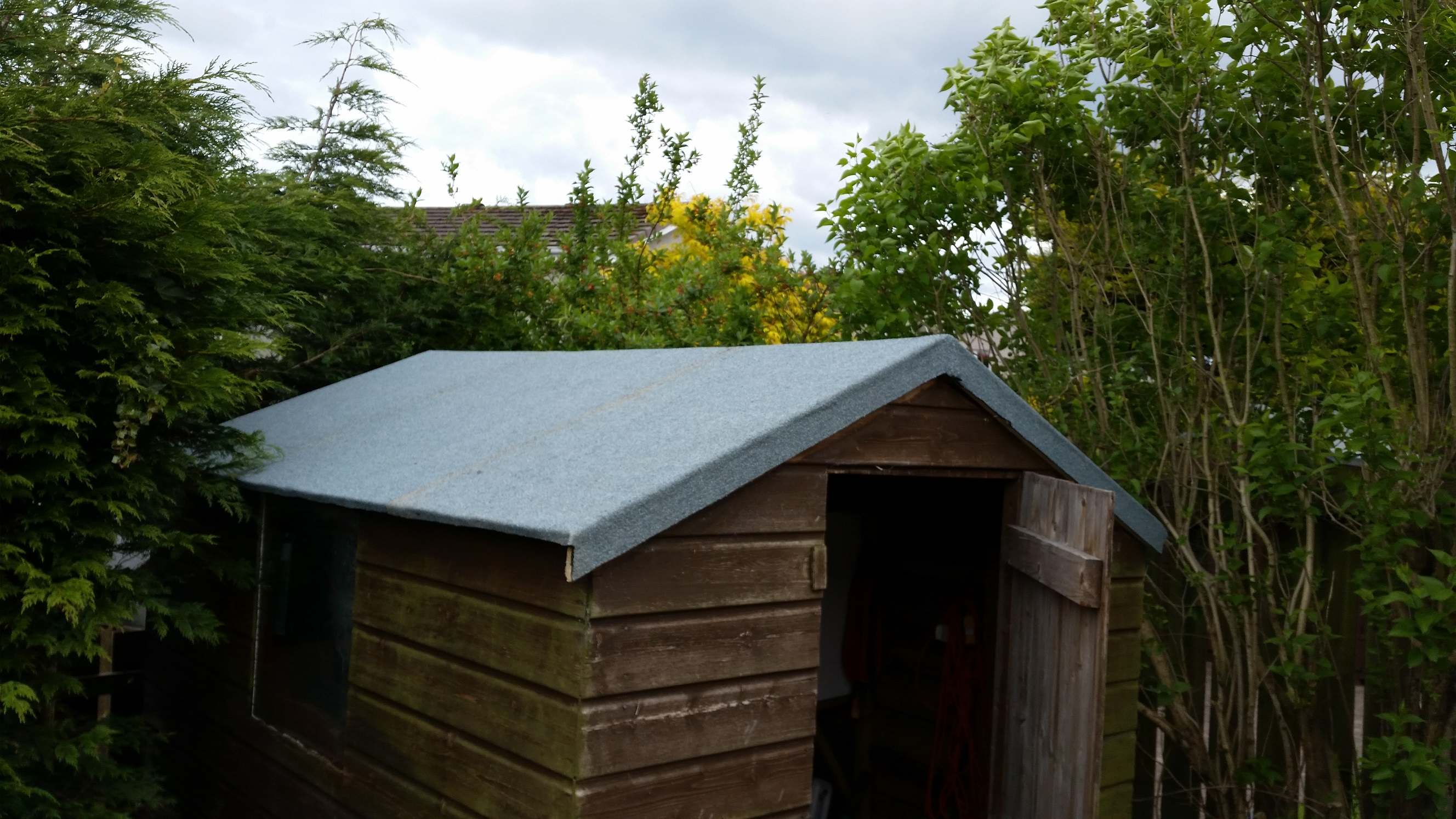 New Heat Bonded Felt For Leaking Shed Roof Ruddy Services